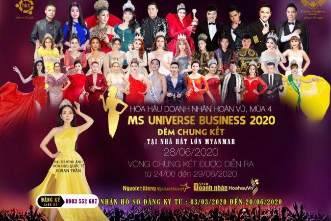 Bắt đầu khởi động và tuyển sinh Hoa hậu Doanh nhân Hoàn vũ – Ms Universe Bussiness 2020