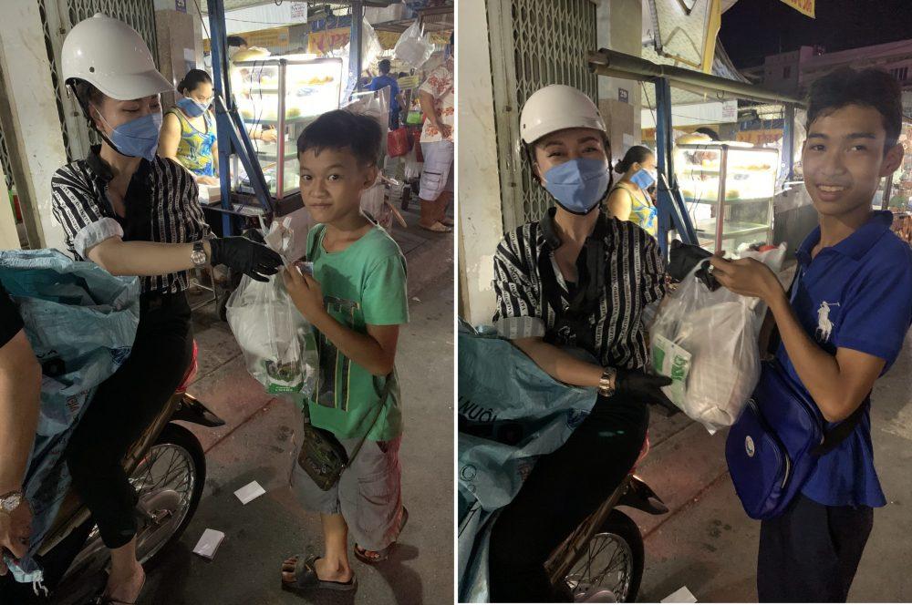 Hoa hậu Lê kiều Tiên cùng nhóm bạn tổ chức từ thiện tại quê nhà